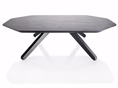 - Low wood veneer coffee table X TABLE | Wooden coffee table - ALMA DESIGN