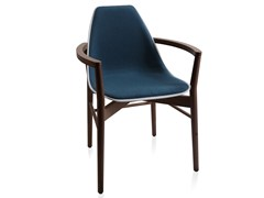- Upholstered wooden chair with armrests X WOOD 2 | Chair with armrests - ALMA DESIGN