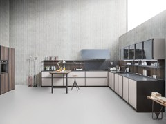 - Linear fitted kitchen without handles XP/03 - Zampieri Cucine