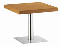 - Square steel and wood table XT 479BT - Metalmobil