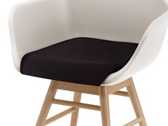 - Upholstered fabric easy chair with armrests Y SOFT - ALMA DESIGN