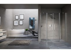 - Shower cabin with hinged door YOUNG 2.0 2A - NOVELLINI