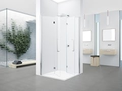- Corner shower cabin with folding door YOUNG 2.0 2GS - NOVELLINI