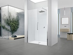 - Shower cabin with hinged door YOUNG 2.0 G+F IN LINE - NOVELLINI