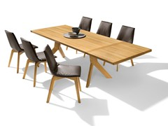 - Extending rectangular solid wood dining table YPS | Extending table - TEAM 7 Natürlich Wohnen
