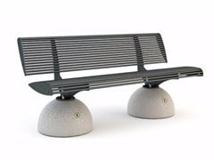 - Bench with back ZEBRA | Bench - Bellitalia