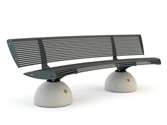 - Curved Bench with back ZEBRA | Curved Bench - Bellitalia