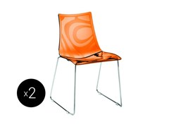 - Sled base ergonomic stackable chair ZEBRA | Sled base chair - SCAB DESIGN