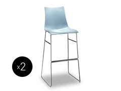 - Sled base high technopolymer stool ZEBRA TECNOPOLIMERO | Sled base stool - SCAB DESIGN