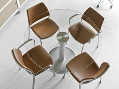 - Round glass table ZERO | Glass table - STUA