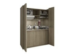 - Wooden mini kitchen with folding doors ZEUS K110 - Mobilspazio