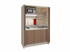 - Mini kitchen with sliding doors ZEUS K122 - Mobilspazio