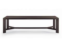 - Rectangular wood veneer table ZEUS | Rectangular table - Poliform