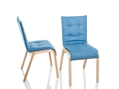 - Stackable upholstered fabric restaurant chair with linking device ZIPPER UPH | Upholstered chair - RIGA CHAIR