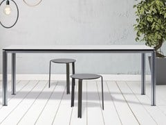 - Rectangular stainless steel table ZOE | Garden table - iCarraro italian makers