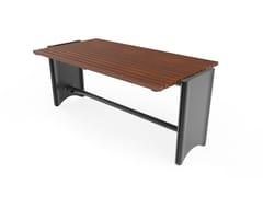 Tavolo per spazi pubblici rettangolare in acciaioZTL | Tavolo per spazi pubblici - CITY DESIGN