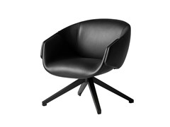 - Swivel leather armchair with armrests ANITA | Leather armchair - SP01