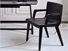 - Leather chair with armrests ACANTO '14 | Chair with armrests - Maxalto, a brand of B&B Italia Spa