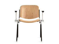 - Wooden training chair with armrests AGORÀ | Wooden training chair - Emmegi