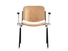 - Sedia da conferenza in legno con braccioli AGORÀ | Sedia da conferenza in legno - Emmegi