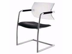 - Cantilever upholstered polypropylene and fabric chair AIRE JR | Cantilever chair - Luxy