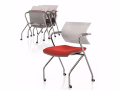 - Folding chair with armrests with casters AIRE JR | Folding chair - Luxy