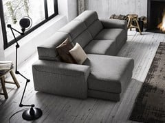 - Fabric sofa with chaise longue AJAR | Sofa with chaise longue - Felis