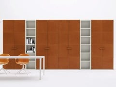 - Sectional tanned leather wardrobe ALA CUOIO - Silenia