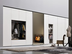 - Sectional mirrored wardrobe ALA LINEAR - Silenia