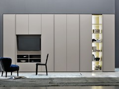 - Sectional wardrobe with built-in TV ALA WING - Silenia