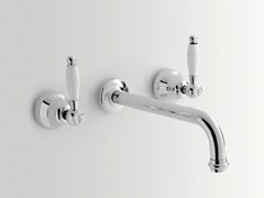 - 3 hole wall-mounted washbasin tap ALDEN | Wall-mounted washbasin tap - BATH&BATH