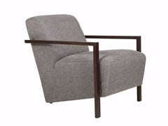 - Upholstered fabric armchair with armrests ALLAN | Armchair with armrests - SITS