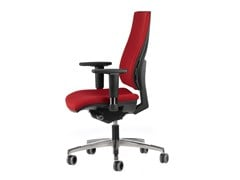 - Fabric task chair with 5-Spoke base with armrests with casters ALLY 1737 - TALIN