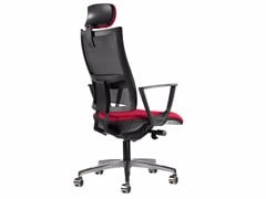 - Mesh task chair with 5-Spoke base with armrests with casters ALLYNET 1757 A - TALIN