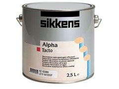 Finitura decorativa all'acqua per interni opaca ALPHA TACTO - AKZO NOBEL COATINGS - SIKKENS