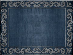 - Handmade rectangular custom rug AMIRAL FRAME - EDITION BOUGAINVILLE