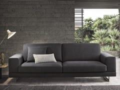 - Sled base 3 seater fabric sofa ANGEL   3 seater sofa - Felis