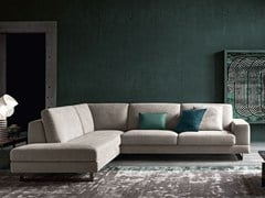 - Sled base corner fabric sofa ANGEL | Corner sofa - Felis