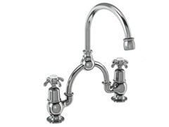 - 2 hole chromed brass bridge mixer ANGLESEY | 2 hole washbasin tap - Polo