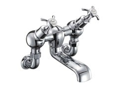 - 2 hole wall-mounted chromed brass bathtub tap ANGLESEY | Wall-mounted bathtub tap - Polo