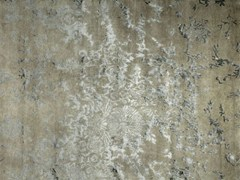 - Patterned handmade rectangular rug ANGUILLA LIGHT GREY - EDITION BOUGAINVILLE