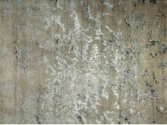 - Patterned handmade rectangular rug ANGUILLA LIGHT GREY - EDITION BOUGAINVILLE