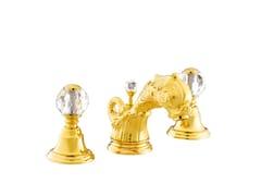 - 3 hole washbasin tap with Swarovski® crystals ANTARTICA | 3 hole washbasin tap - Bronces Mestre