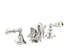 - 3 hole washbasin tap with Swarovski® crystals ANTARTICA SWAN | Washbasin tap with Swarovski® crystals - Bronces Mestre