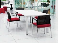 - Lacquered rectangular meeting table APOLLO | Lacquered meeting table - Boss Design