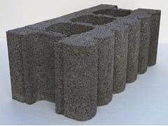 Blocco in cls fonoassorbenteAR25 | Blocco da muratura fonoassorbente in cls - EDIL LECA  DIVISIONE MURATURE
