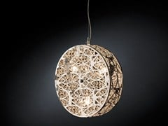 - Steel pendant lamp with crystals ARABESQUE CILINDRO VERTICAL - VGnewtrend