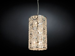 - Steel pendant lamp with crystals ARABESQUE CILINDRO - VGnewtrend