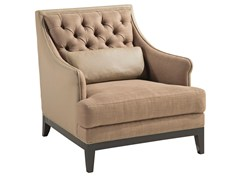 - Tufted leather armchair with armrests EPOQ | Armchair - ROCHE BOBOIS