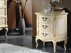 - Solid wood bedside table with drawers ARMONIE | Lacquered bedside table - Arvestyle